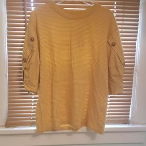 Brand new with tags, mustard yellow shirt